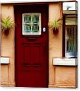 Portugal Red Door Canvas Print