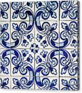 Portuguese Azulejo Canvas Print