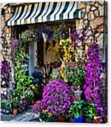 Positano Flower Shop Canvas Print