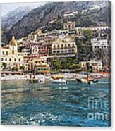 Positano Seaside View Canvas Print