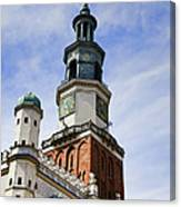Posnan Poland Clock Tower Canvas Print