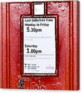 Post Box Canvas Print