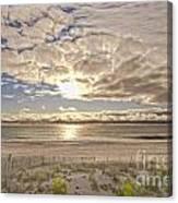 Post-tourist Sunrise Ocean City Canvas Print