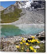 Postcard From Alpes Canvas Print