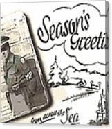 Postcard From War Canvas Print