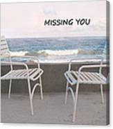 Poster Missing You Canvas Print