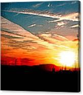 Poster Sunset Canvas Print