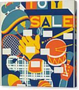 Poster: Toys, C1940 Canvas Print