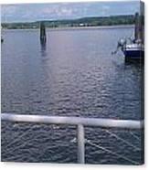 Potomac River Dock Canvas Print