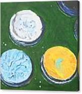 Pots Of Paint Canvas Print