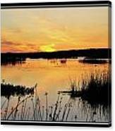 Potter Marsh Sunset Canvas Print