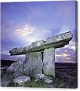 Poulnabrone Dolmen, The Burren, Co Canvas Print