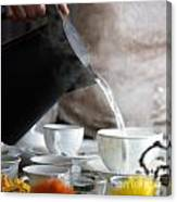 Pouring Hot Water Canvas Print