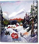Powder and Sunshine Canvas Print