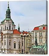 Prague - St Nicholas Church Old Town Square Canvas Print