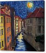 Prague By Moonlight Canvas Print