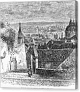 Prague: Castle Stairs Canvas Print