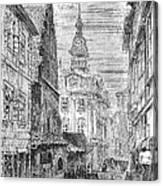 Prague: Jewish City Hall Canvas Print