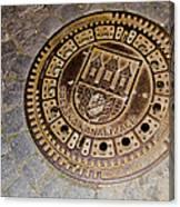 Prague Manhole Cover Canvas Print