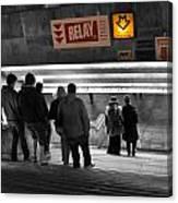 Prague Underground Station Stairs Canvas Print