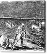 Prairie Fire, 1844 Canvas Print