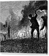 Prairie Fire, 1874 Canvas Print
