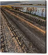 Prairie Road Storm Clouds Mud Tracks Canvas Print