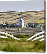 Prairie Town With Elevator Canvas Print