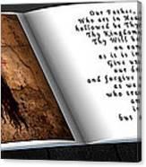 Prayer Book Canvas Print