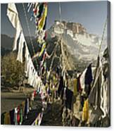 Prayer Flags Hang In The Breeze Canvas Print