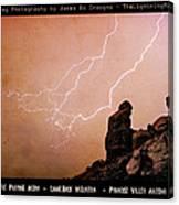 Praying Monk Camelback Mountain Lightning Monsoon Storm Image Tx Canvas Print