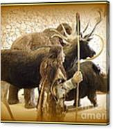 Prehistoric Man And Friends Canvas Print