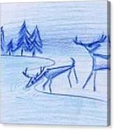 Prehistoric Scenic Canvas Print