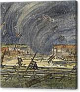 Kansas Cyclone, 1887 Canvas Print