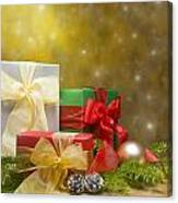 Presents Decorated With Christmas Decoration Canvas Print
