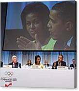 President And Michelle Obama Answer Canvas Print