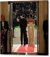 President And Michelle Obama Face Canvas Print