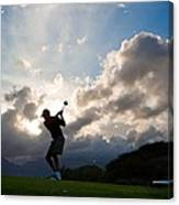 President Barack Obama Plays Golf Canvas Print