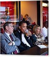 President Barack Obama Watches The 2009 Canvas Print