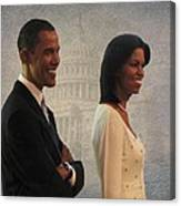 President Obama And First Lady Canvas Print