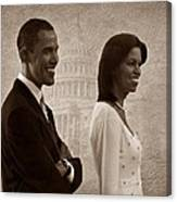 President Obama And First Lady S Canvas Print
