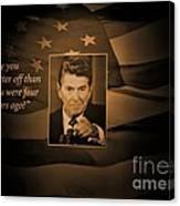 President Reagan Canvas Print