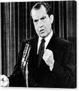 President Richard Nixon During A News Canvas Print