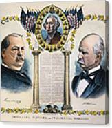 Presidential Campaign, 1892 Canvas Print