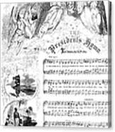 Presidents Hymn, 1863 Canvas Print