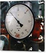 Pressure Dial, Natural Gas Industry Canvas Print
