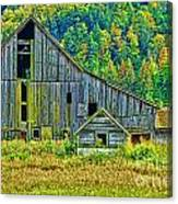 Prest Road Barn Hdr Canvas Print