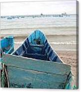 Pretty Blue Boat Canvas Print