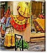 Pretty Shop In Provence Canvas Print