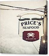 Price's Seafood Canvas Print